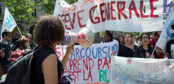 Les lycéens manifestent contre Parcoursup