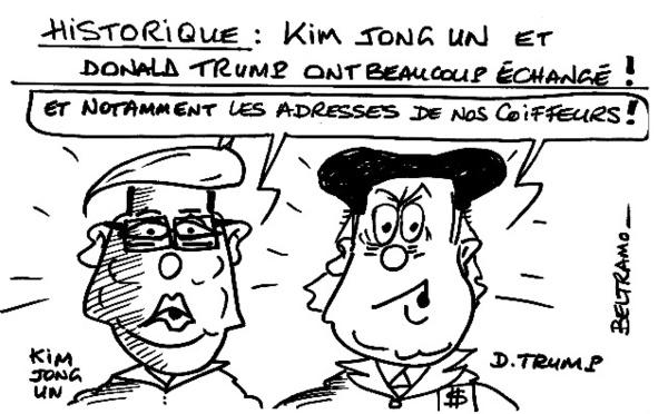 Échanges entre Trump et Kim