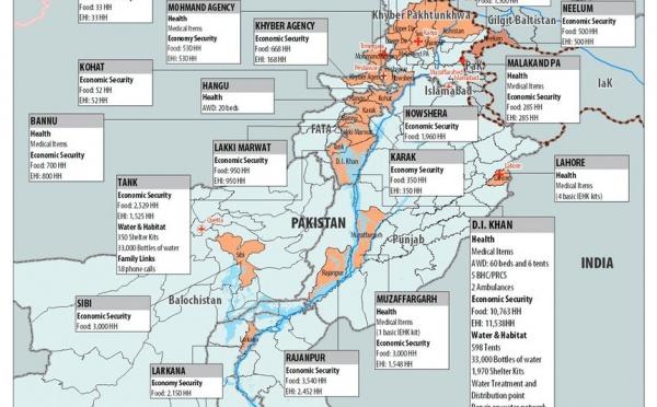 Pakistan : aide aux victimes des inondations au Baloutchistan