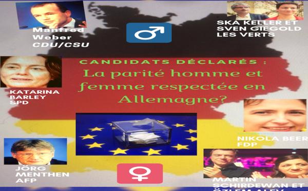 Elections européennes en Allemagne - La parité Homme/Femme bien respectée ?