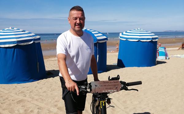 Tancarville-Porto: greffé, il parcourra 1.600 km à vélo