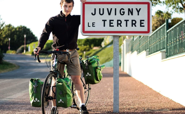 Tour d'Europe à vélo: à 19 ans, il parcourra 16.000km