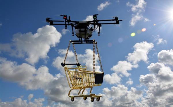 Drones : des premiers essais de livraison réalisés avec la DGAC sur le site d'e-Valley