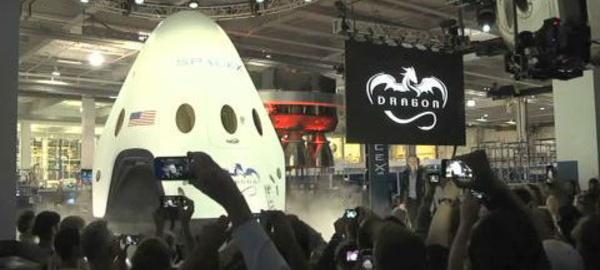 Le vaisseau Dragon V2