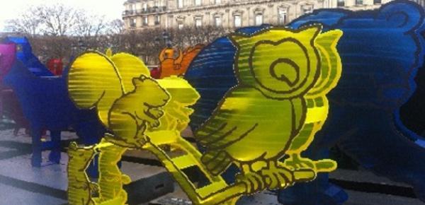 Des animaux multicolores à Paris