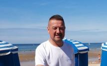 Steve Malherbe lors d'un entraînement – Plage de Blonville-sur-Mer dans le Calvados © Steve Malherbe