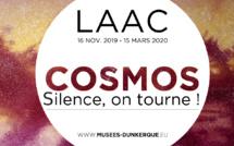 Dans le cadre du programme d'expositions Museo/Sciences coordonné par l'Association des conservateurs des musées des Hauts-de-France et à l'occasion du cinquantenaire de la mission Apollo 11, le LAAC présente COSMOS, Silence on tourne !, une exposition sur l'exploration de l'espace. / (c) Musées de Dunkerque