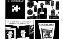 Extrait d'une planche du chapitre sur la schizophrénie / © Darryl Cunningham / Editions ça et là