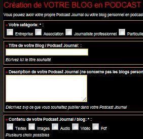 Créez votre podcast blog